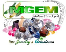 MrGemStoneEyes Logo of Faceted Gemstones and Silver Chain